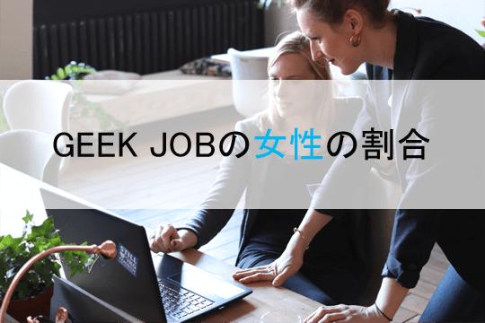 GEEK JOBの女性の割合