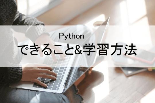Pythonできること&学習方法